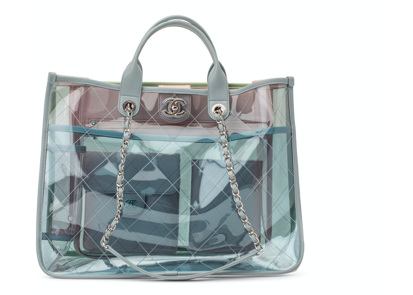 557fa4b945c7 Chanel Shopper PVC Quilted Coco Splash Medium Blue/Green/Pink