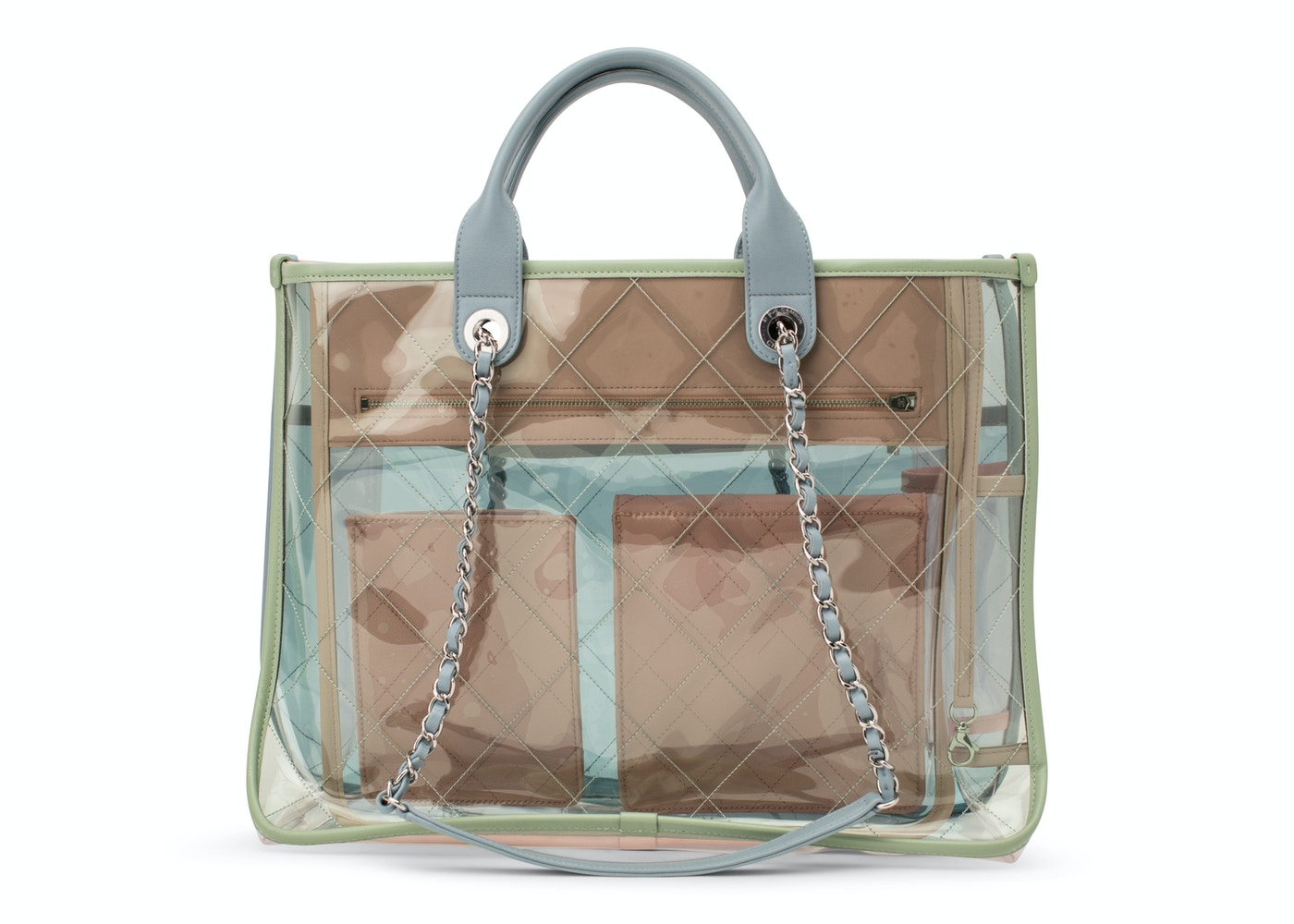 14597eacd47c Sell. or Ask. View All Bids. Chanel Shopper PVC Quilted Coco Splash Medium  Blue/Green/Pink