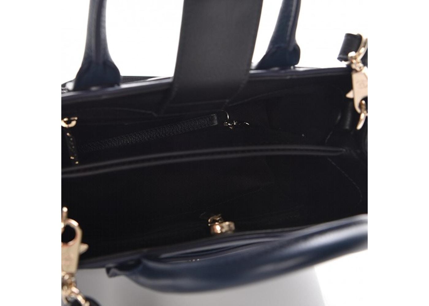 78a54a93bc0e Chanel Neo Executive Shopper Tote Grained Mini Navy Blue/Black