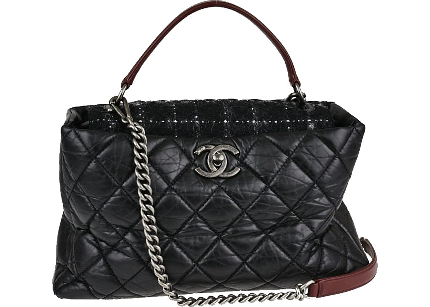 6e5ae4e5c346 Sell. or Ask. View All Bids. Chanel Shopping Bag Portobello Quilted Glazed  Large Black White