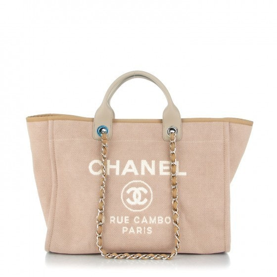 Chanel Shopping Tote Deauville Large Light Beige
