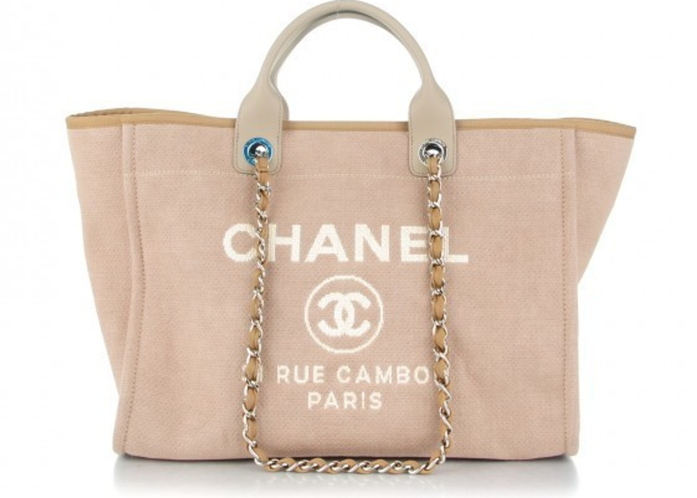 a749ba97c3d6 Sell. or Ask. View All Bids. Chanel Shopping Tote Deauville Large Light  Beige