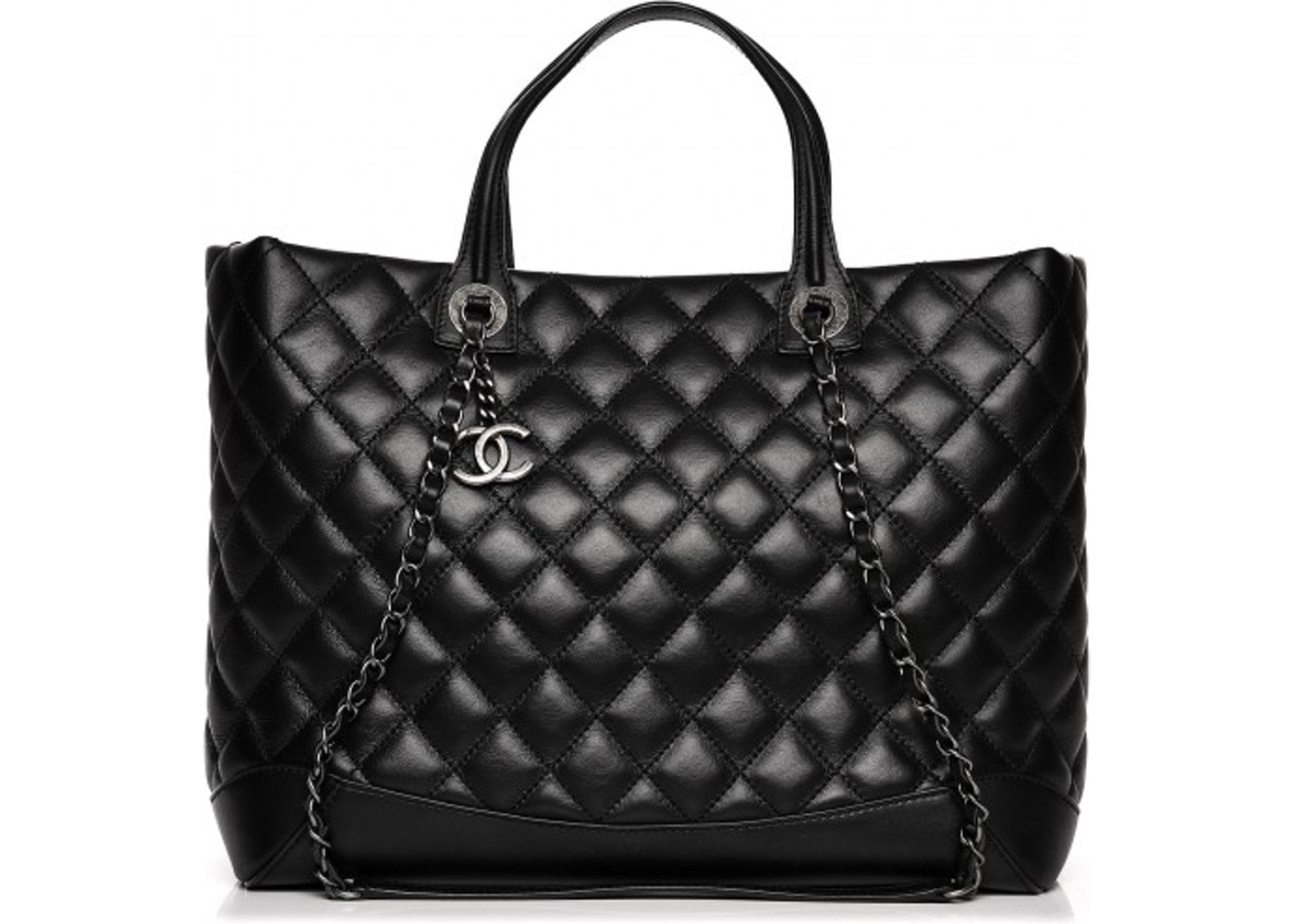 ece68998f248 Chanel Easy Shopping Tote Quilted Diamond Large Black. Quilted Diamond  Large Black