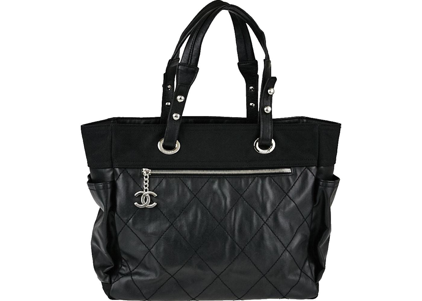 47604c7eeca8 Chanel Shopping Tote Paris Biarritz Quilted Coated Grand Black. Paris  Biarritz Quilted Coated Grand Black