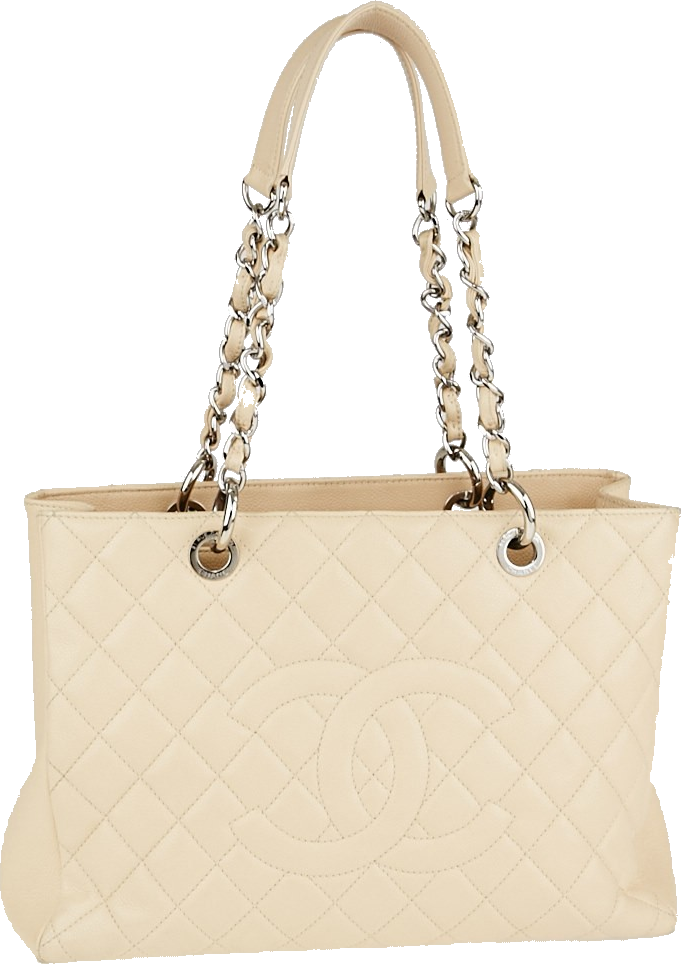 Chanel Shopping Tote Quilted Grand Beige Clair