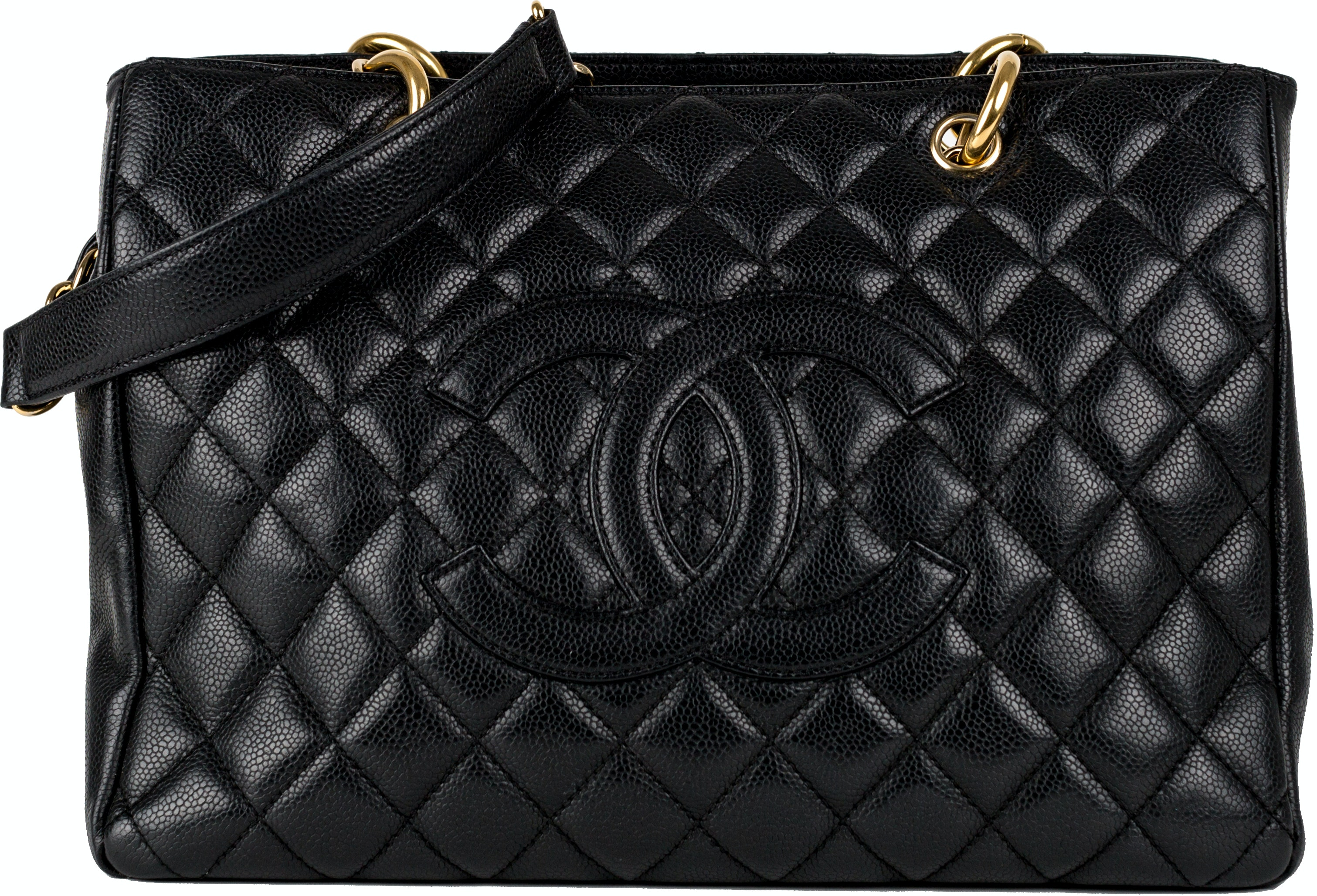 Chanel Shopping Tote Quilted Grand Black