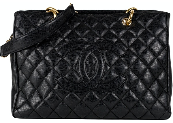 b4296ce0016e Chanel Shopping Tote Quilted Grand Black