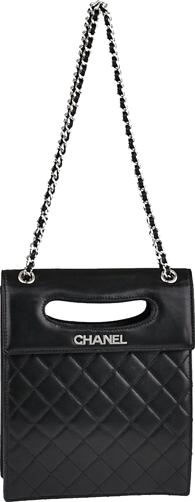 Chanel Shoulder Two way Quilted Black