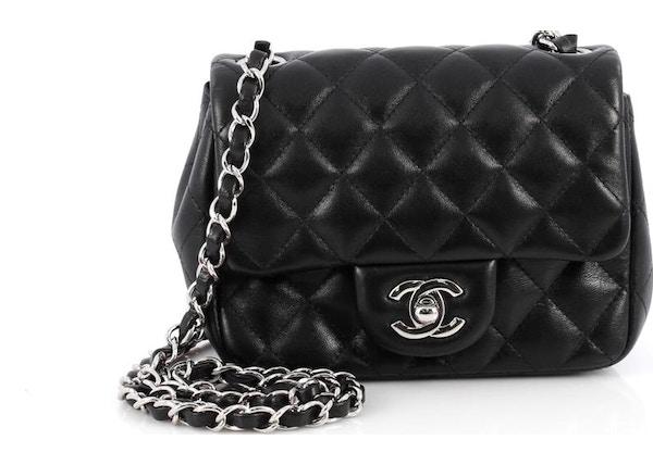 dde4c66bf620 Chanel Square Single Flap Quilted Diamond Mini Black