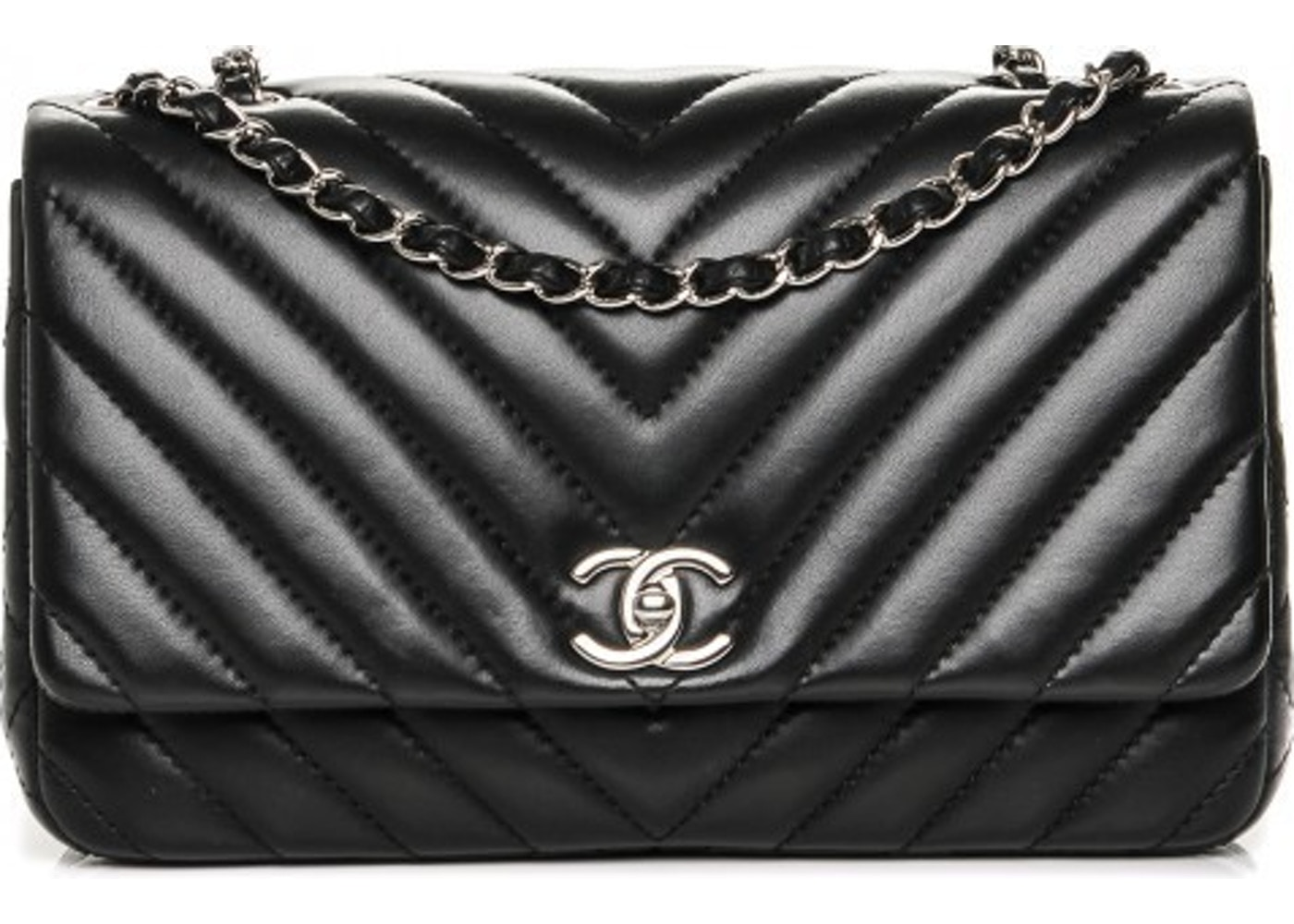 c39c3b2c8c5a Sell. or Ask. View All Bids. Chanel Single Flap Chevron Quilted Surpique  Medium Black