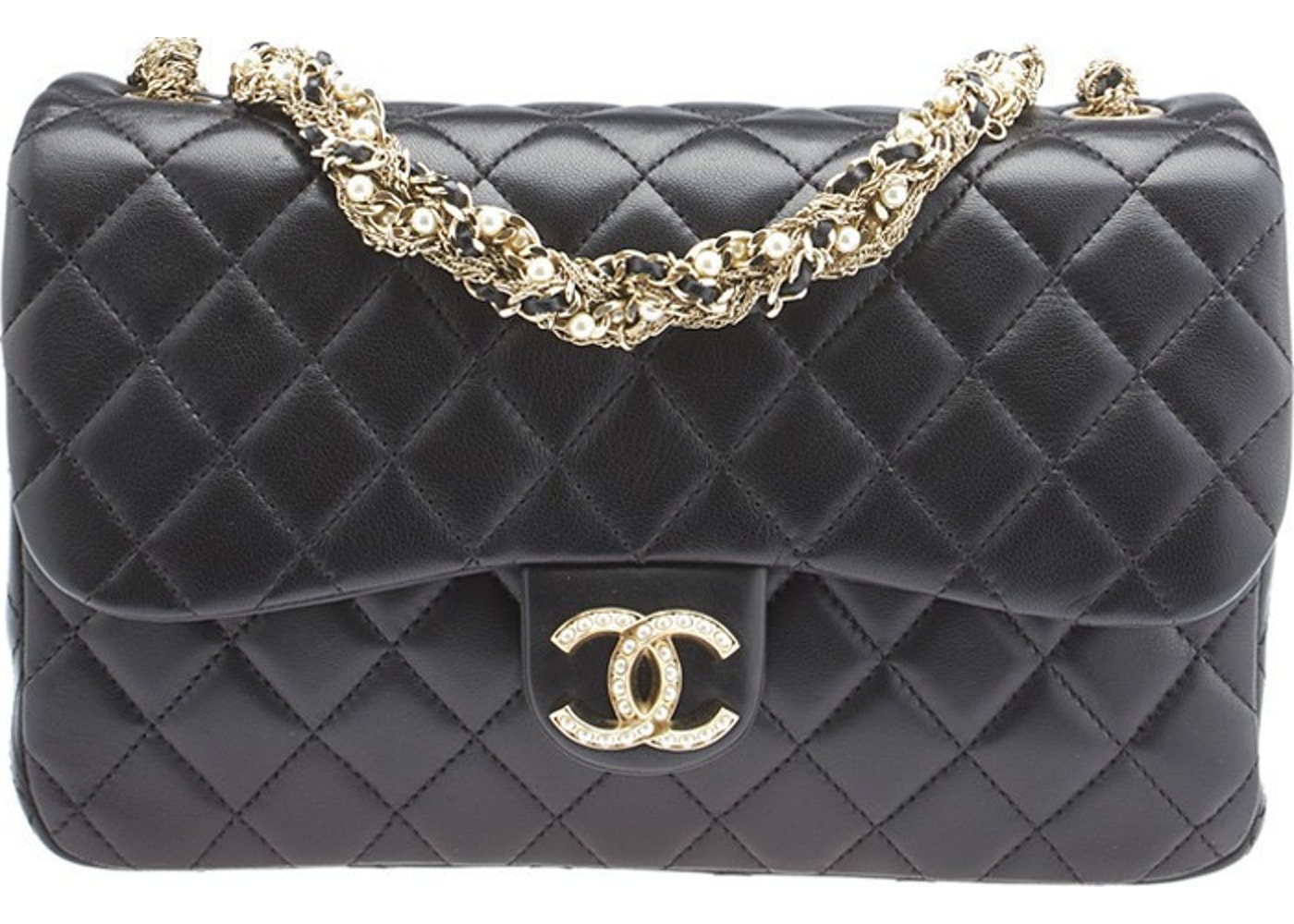 375b00fa8b6d77 Sell. or Ask. View All Bids. Chanel Single Flap Westminster Pearl Black