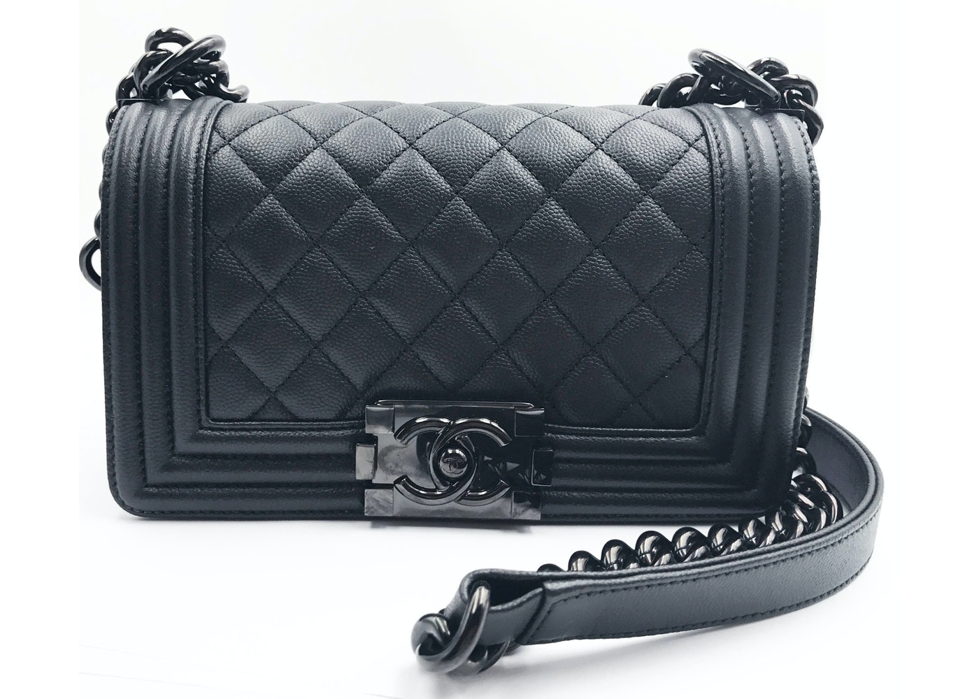 c8ab74b81b36 Chanel Boy Flap Quilted Small So Black
