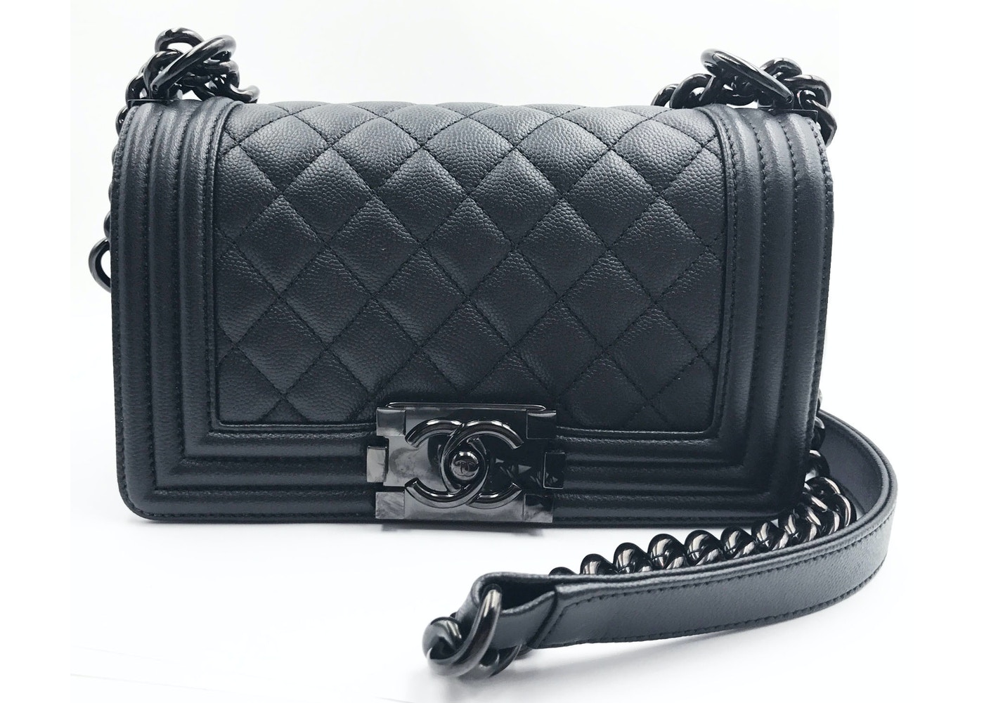 Chanel Boy Flap Quilted Small So Black