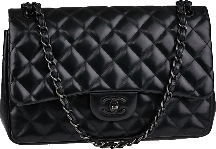 Chanel So Black Classic Double Flap Quilted Jumbo Black