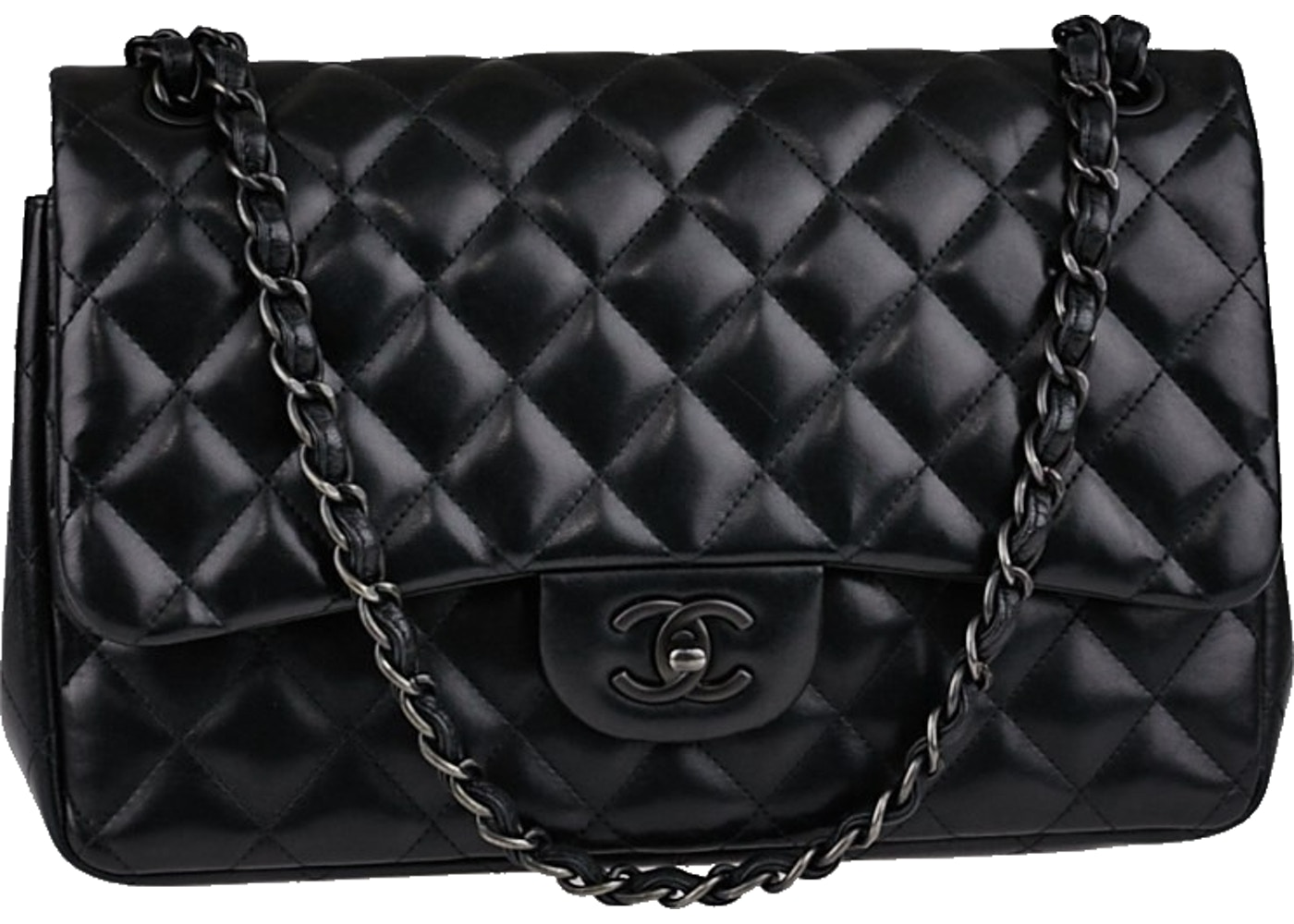 7113652c2fee Sell. or Ask. View All Bids. Chanel So Black Classic Double Flap Quilted  Jumbo Black