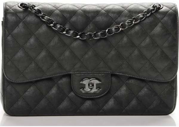 38ae9cd16c8487 Chanel Double Flap Classic Flap So Black Quilted Crumple Jumbo Black