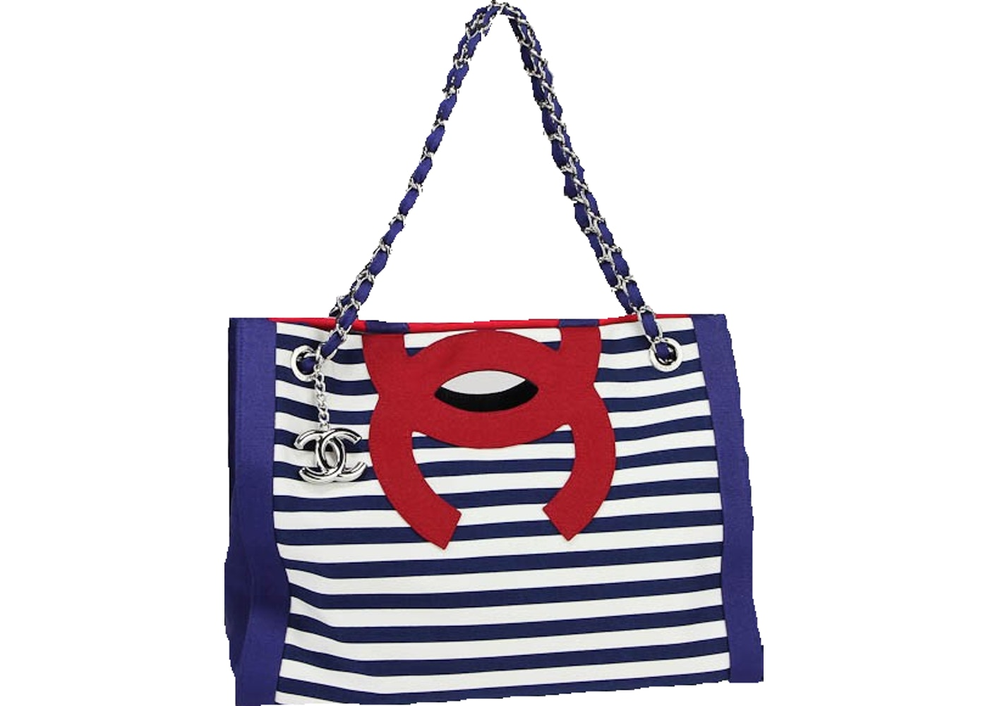 d54f84b16aa3 Chanel Striped Tote Medium Red/White/Blue