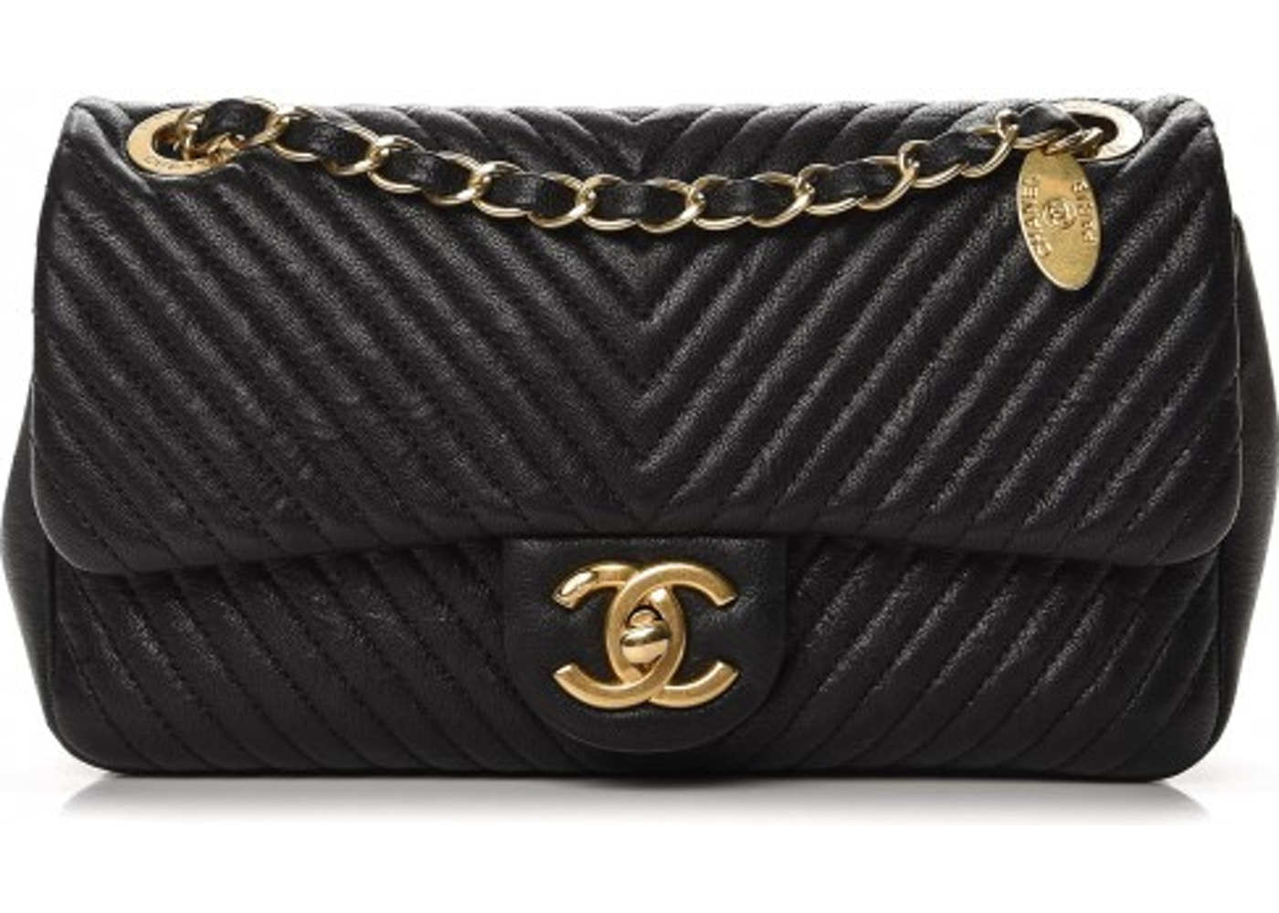 721216388d62 Chanel Surpique Flap Quilted Chevron Small Black. Quilted Chevron Small  Black