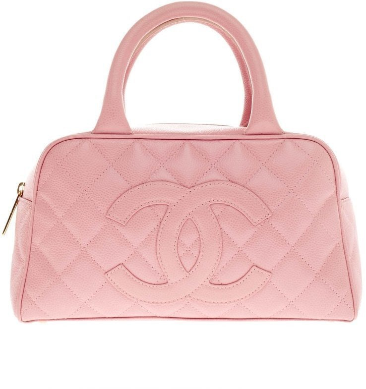 Chanel Timeless Bowler Quilted Small Pink