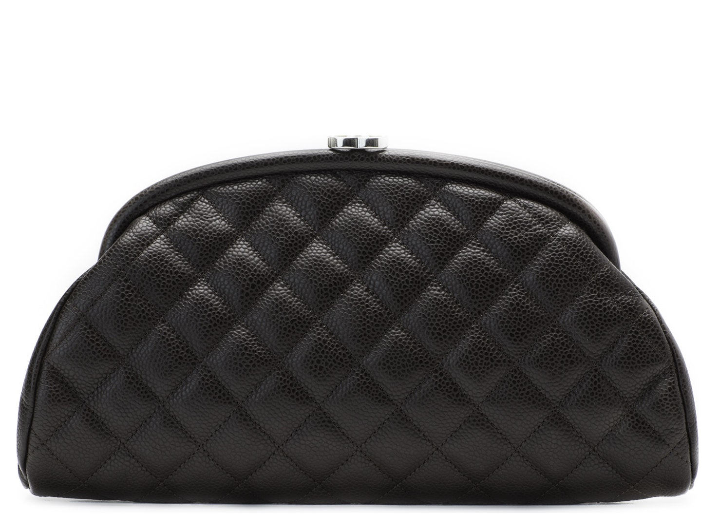 Chanel Timeless Clutch Quilted Dark Brown