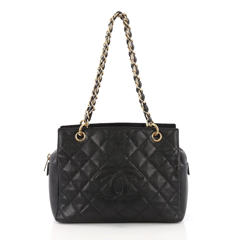 Chanel Timeless Tote Quilted Petite Black