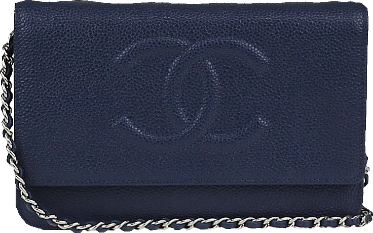 Chanel Timeless Wallet on Chain  Dark Blue
