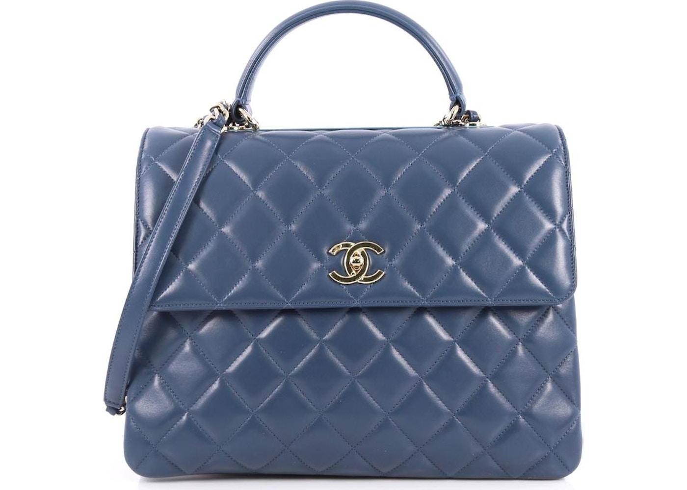 20a90787d3b75 Chanel Trendy CC Top Handle Diamond Quilted Large Blue. Diamond Quilted  Large Blue