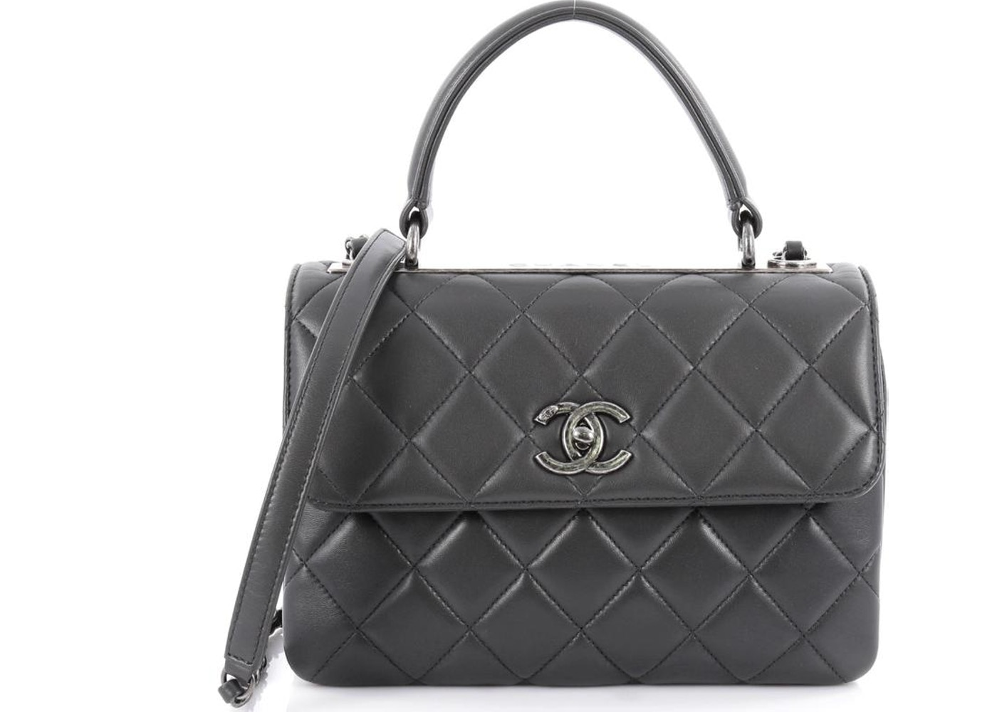 9b9760cb5795 Chanel Trendy CC Top Handle Quilted Diamond Small Grey. Quilted Diamond  Small Grey