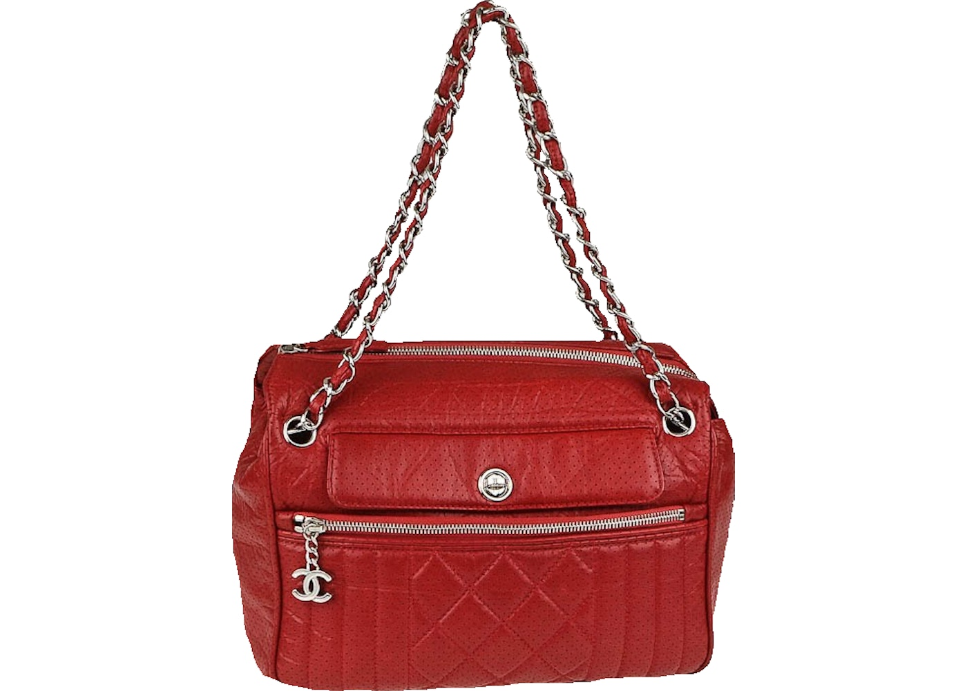 536c78642b75 Sell. or Ask. View All Bids. Chanel Tote 50s Quilted perforated Red