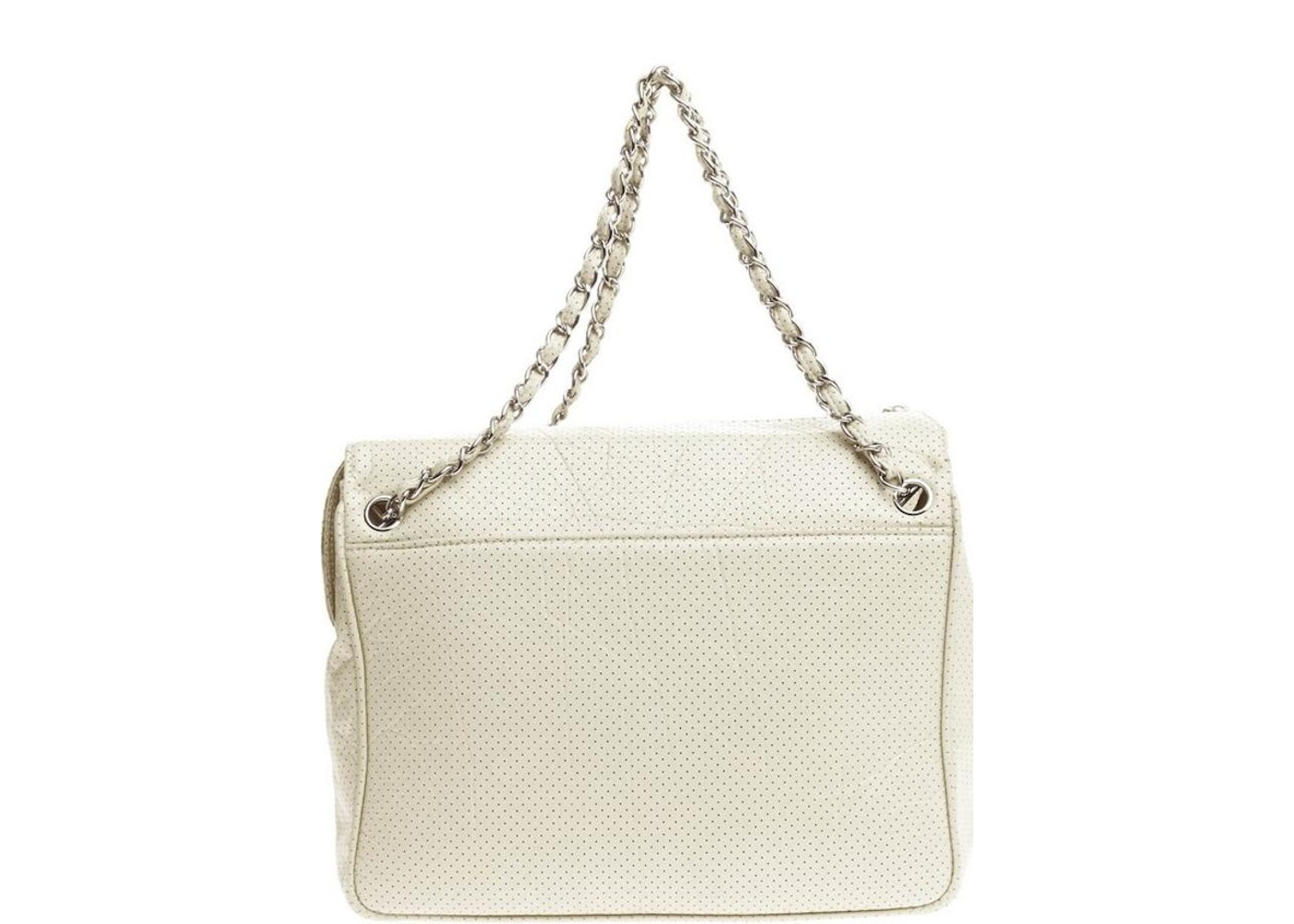 f0f42ab8b717 Chanel Tote 50S Quilted Perforated White