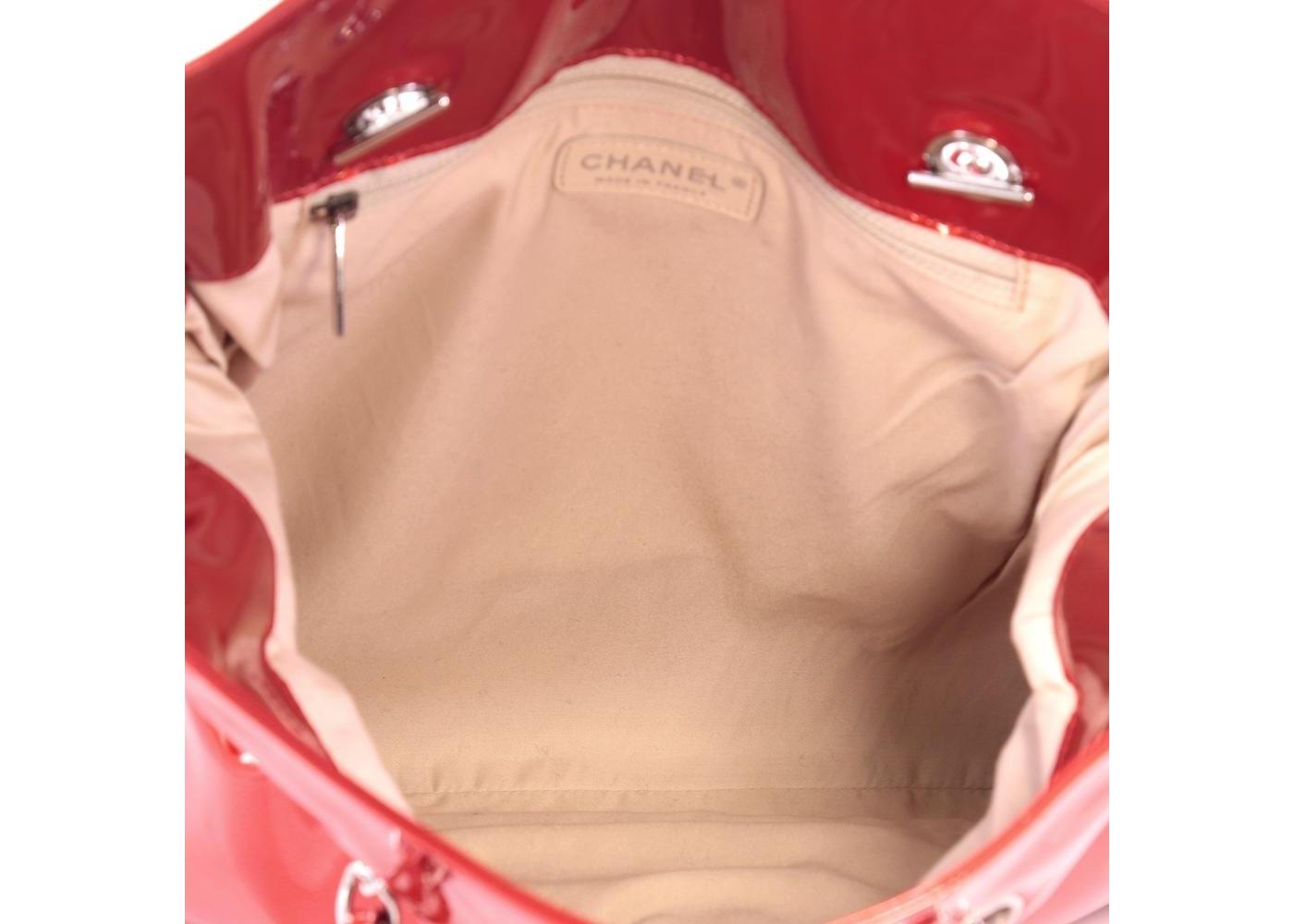 5a8a8381cccf Chanel Bon Bon Tote Embellished Large Red