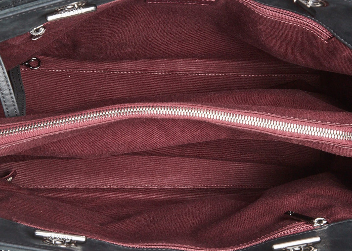 Chanel Cc Lock Tote Quilted Square Iridescent Black Red