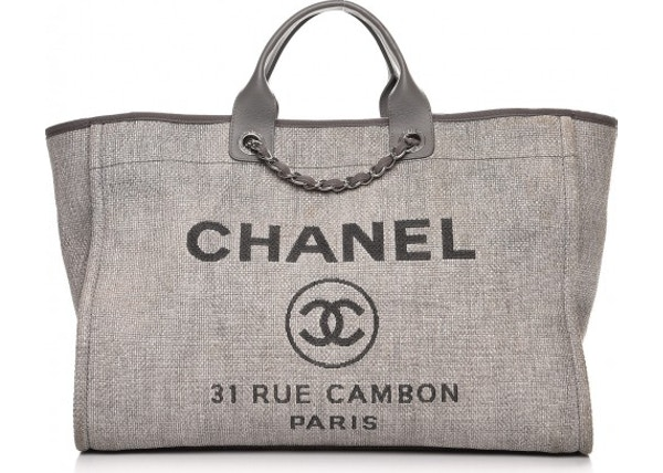f0ebb243df59 Chanel Deauville Tote Large Grey