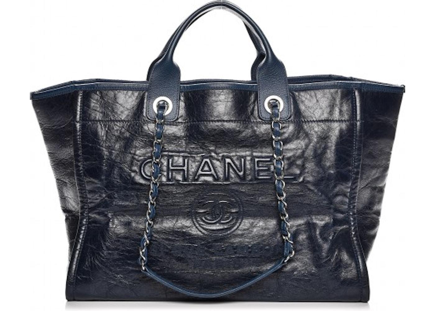 Chanel Deauville Tote Glazed Large Blue. Glazed Large Blue