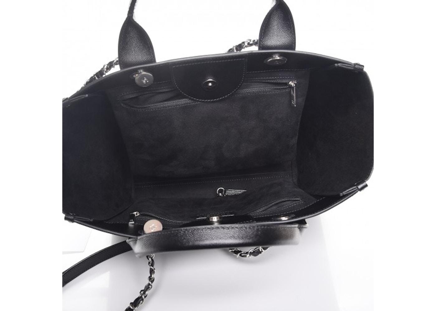 19e5f92263a9 Chanel Deauville Tote Studded Small Black