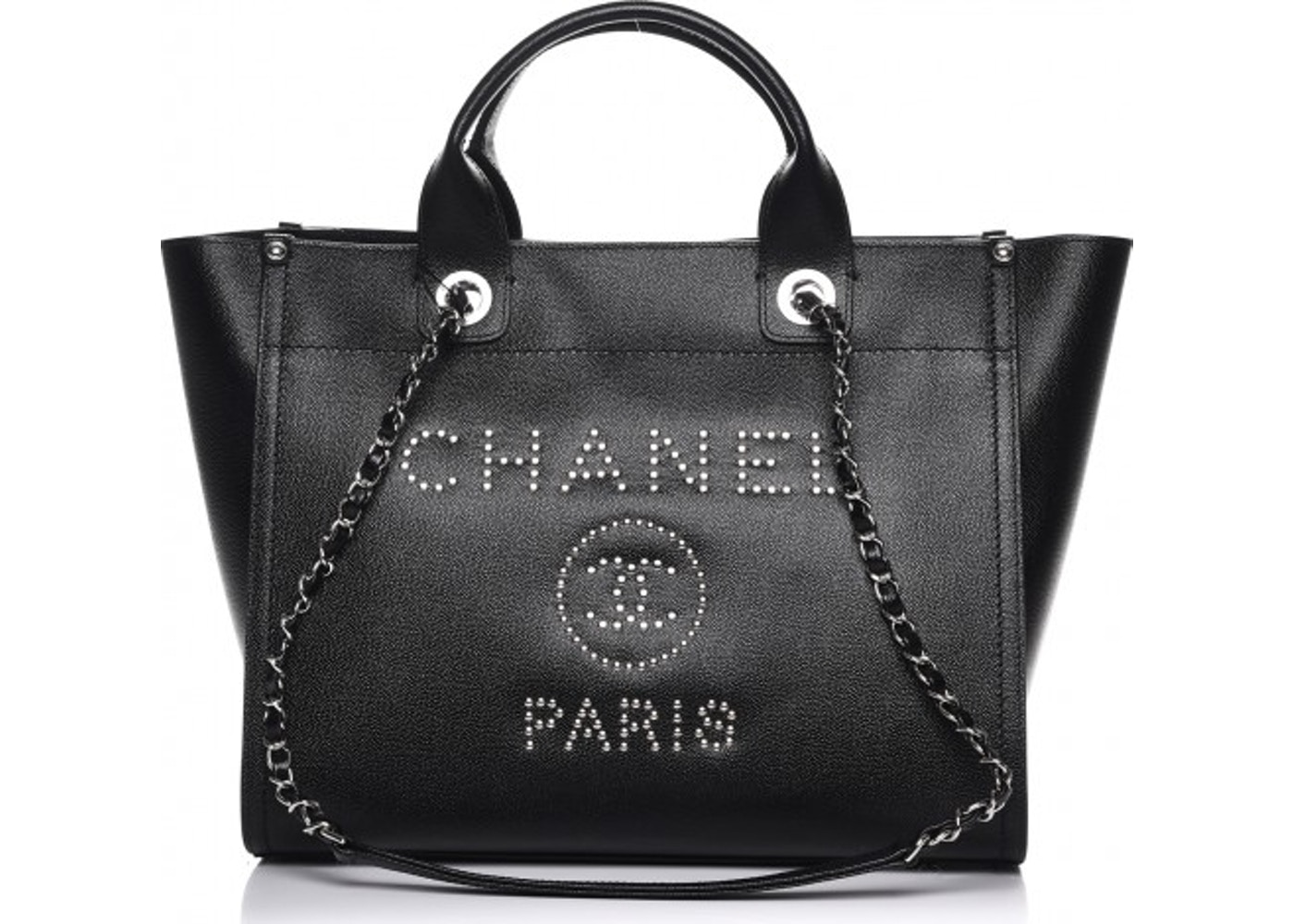 21fb9ebb2725 Chanel Deauville Tote Studded Small Black. Studded Small Black