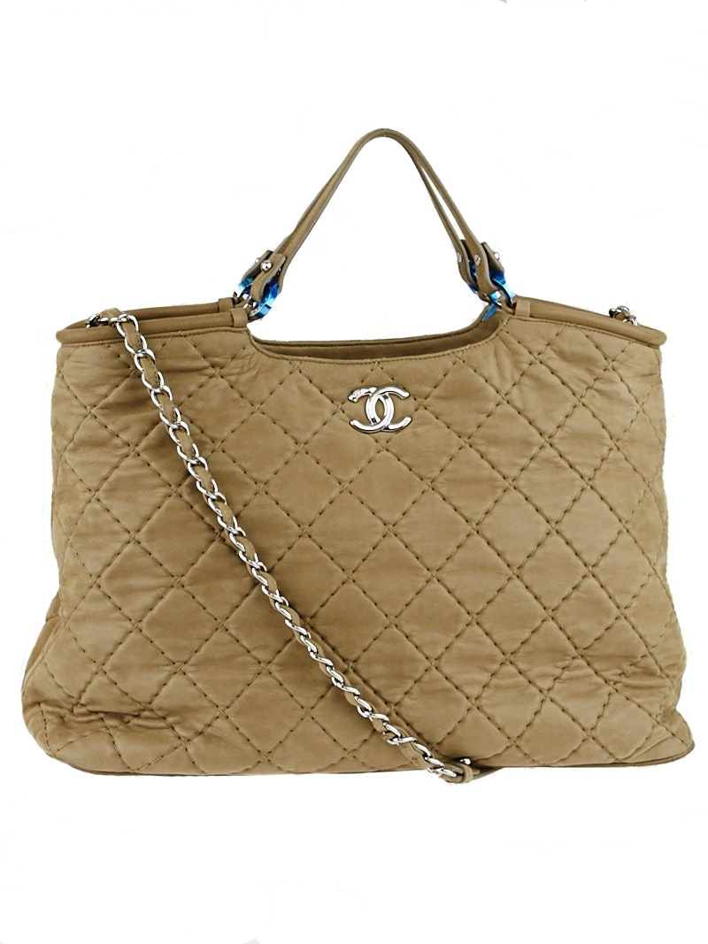 Chanel Tote Quilted Brown
