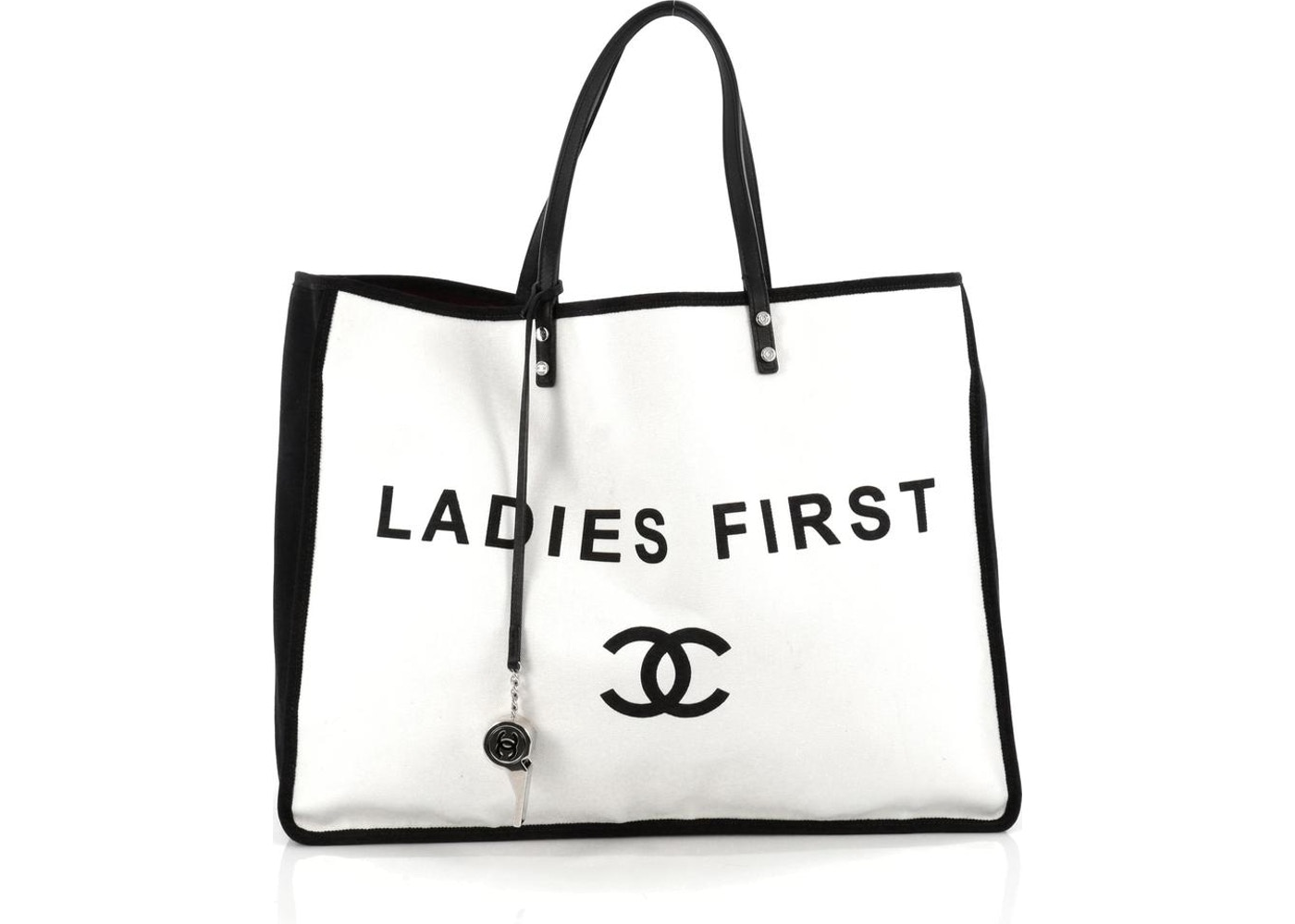 00030b80a366 Chanel Ladies First Whistle Tote Printed Large White/Black. Printed Large  White/Black