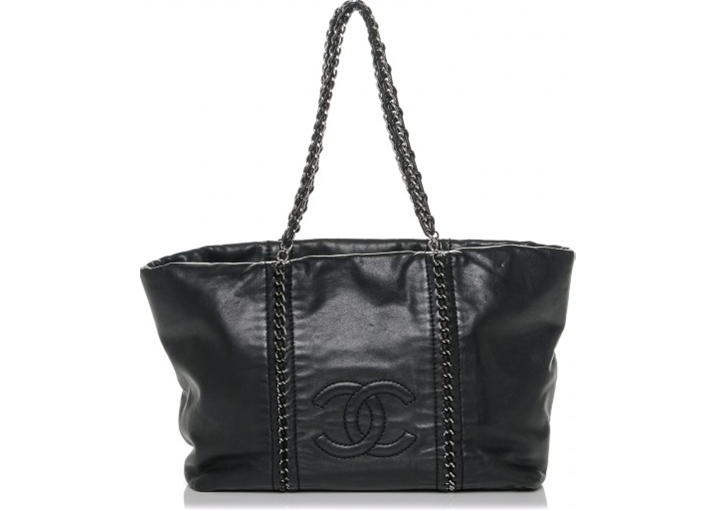 44f53d472f892f Chanel Tote Luxe Ligne Smooth Black