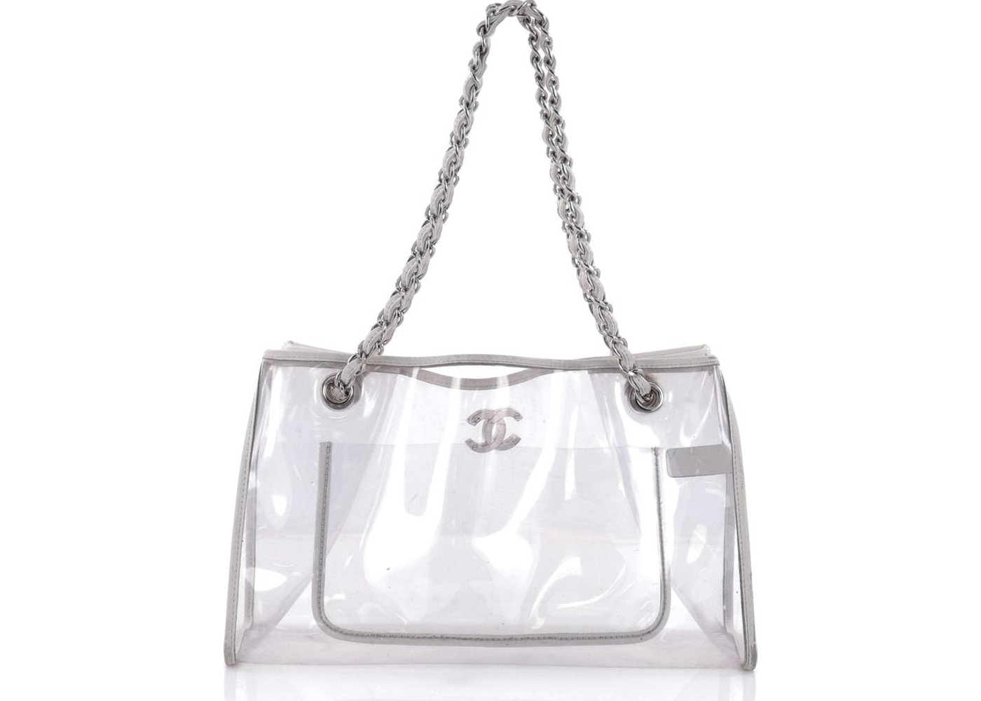 0780f4e8cd2c Chanel Naked Tote PVC Large Clear White