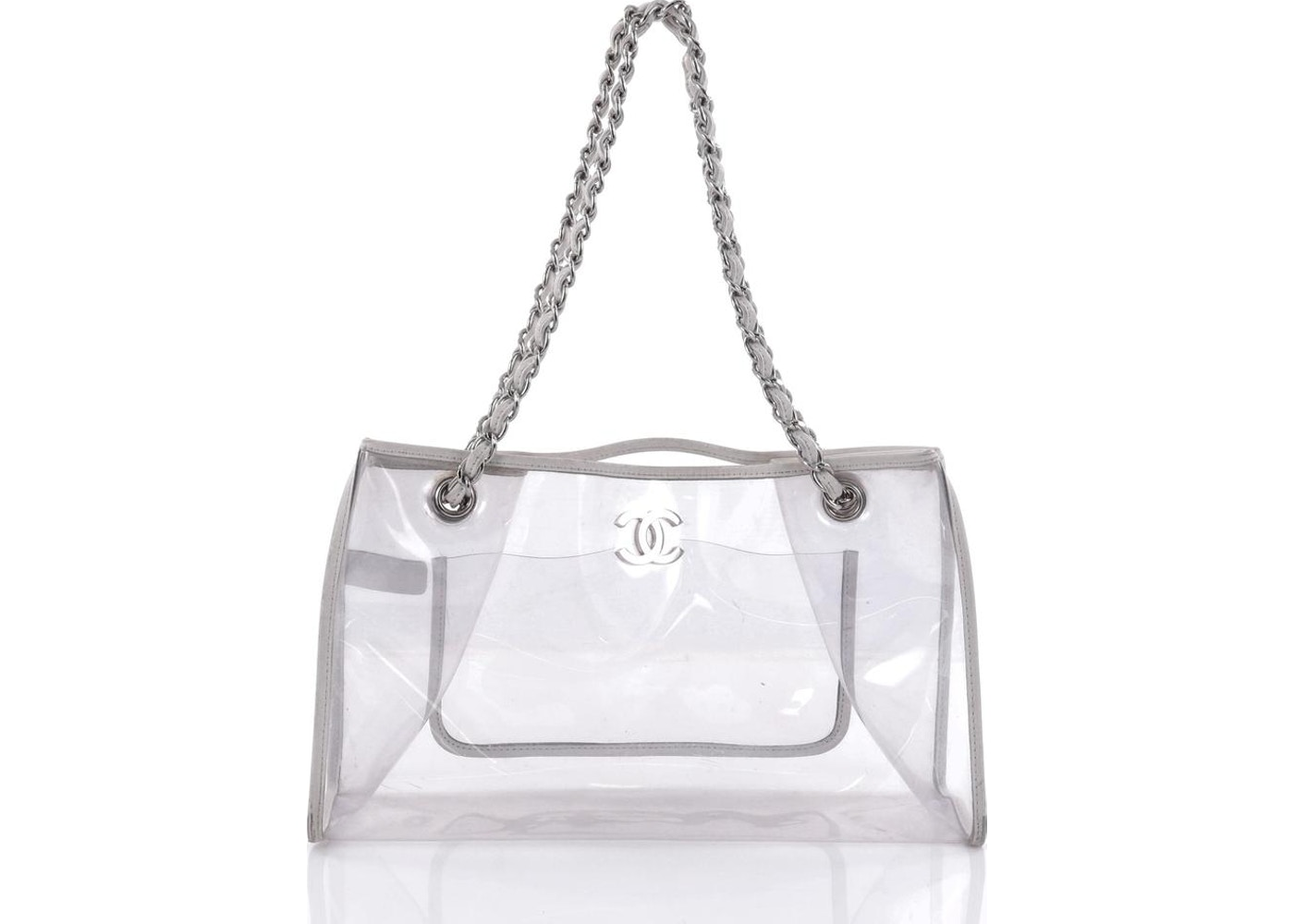 ddca6e982e44 Chanel Naked Tote PVC Large Clear White. PVC Large Clear White
