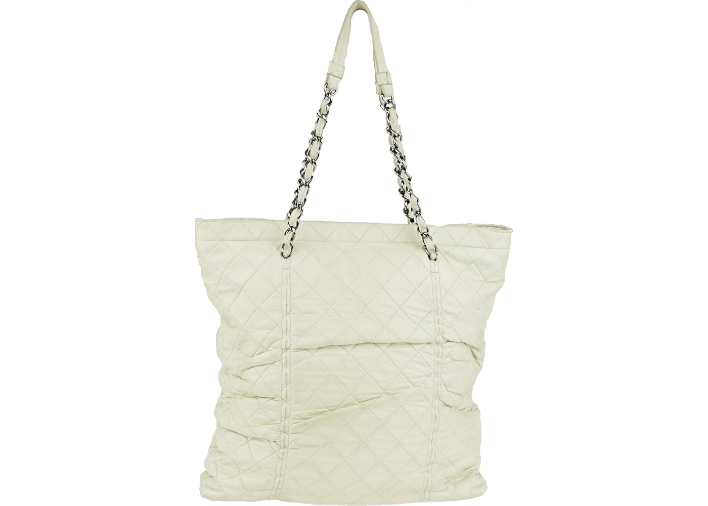203d5667c886 Chanel Tote Sharpei Quilted Ruched Small White