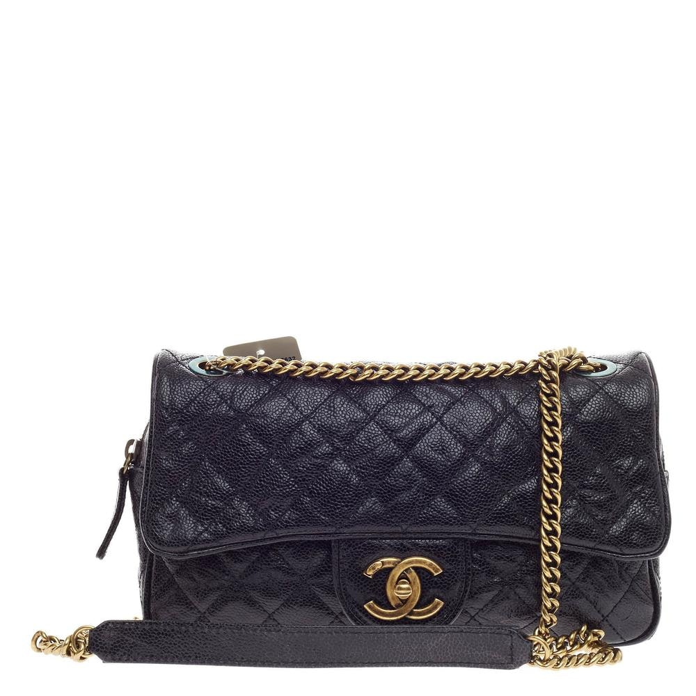 Chanel Shiva Small Flap Quilted Diamond Small Black