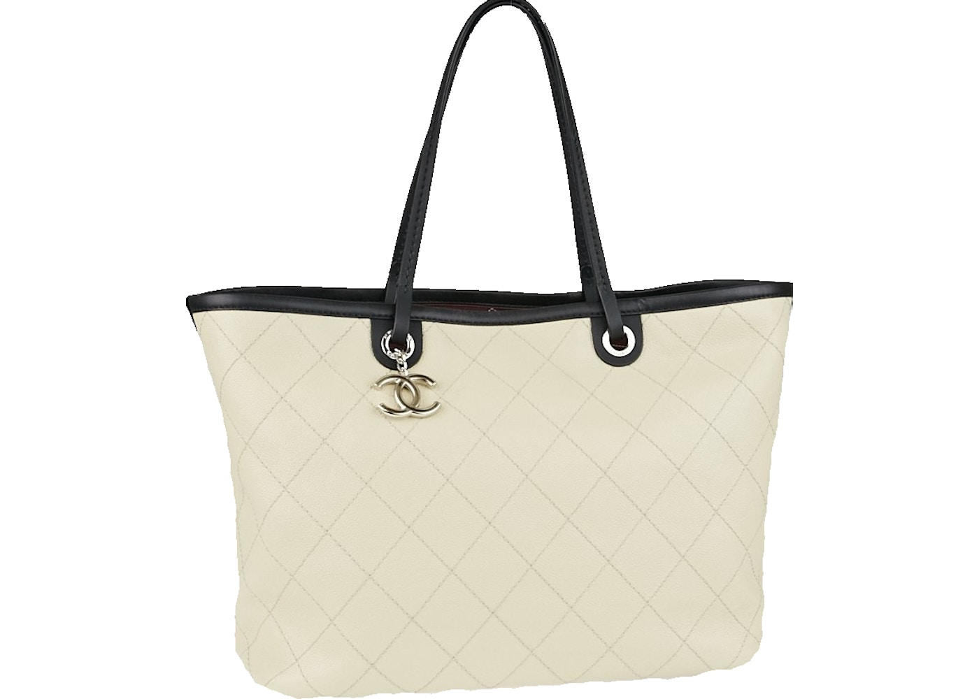 fe25b03921e7 Chanel Tote Shopping Fever Quilted Large Beige Clair/Black