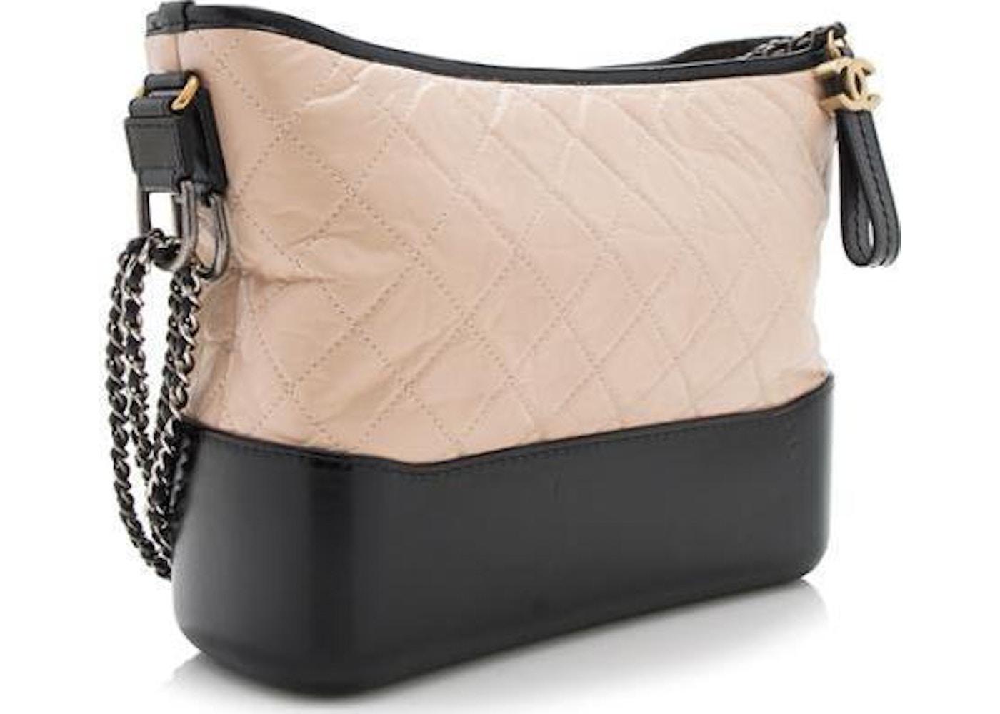 162b0157a4c1 Chanel Gabrielle Hobo Diamond Gabrielle Quilted Medium Beige/Black