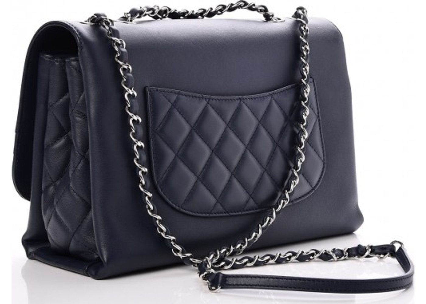 1328a501ea59 Chanel Tramezzo Flap Quilted Diamond Jumbo Navy