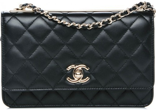 c7da672428df Chanel Trendy CC Wallet On Chain Diamond Quilted