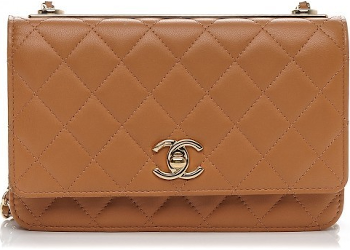 19016f4ac920 Chanel Trendy CC Wallet On Chain Diamond Quilted Camel. Diamond Quilted  Camel