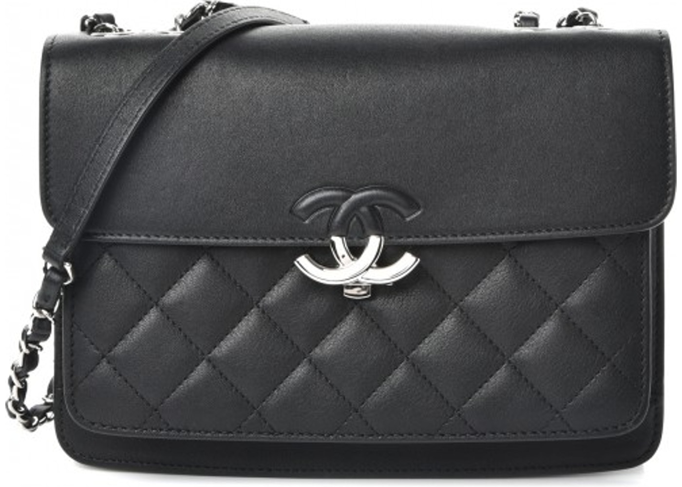5199c3c3f7dc Chanel Urban Companion Flap Quilted Diamond Mini Black. Quilted Diamond Mini  Black