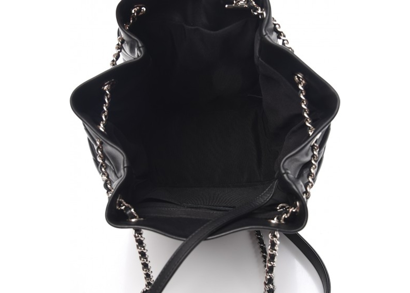 Chanel Urban Spirit Drawstring Bag Quilted Chevron Small Black 1d68ed5d61460